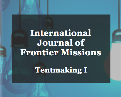 Article: Tentmaking I